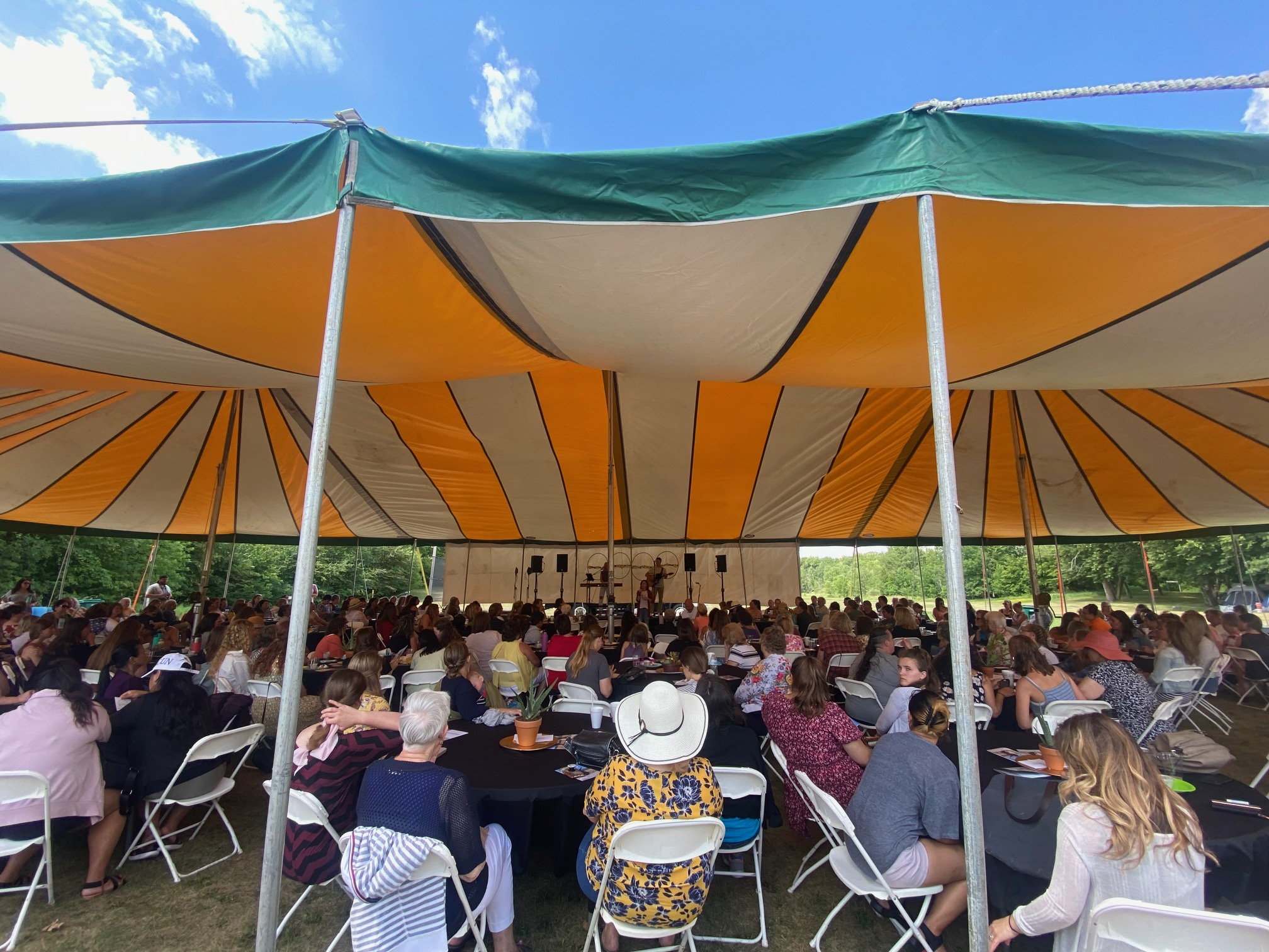 2021 Garden Coffee Tent Photo